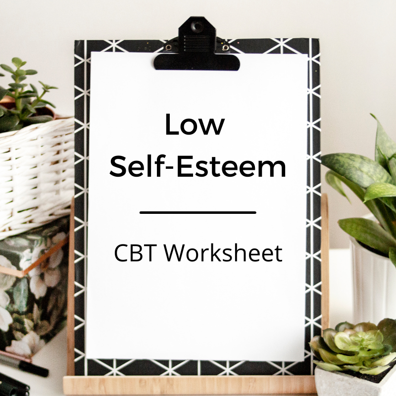 self-esteem cbt worksheet