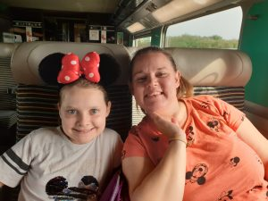 Mum and Daughter on train