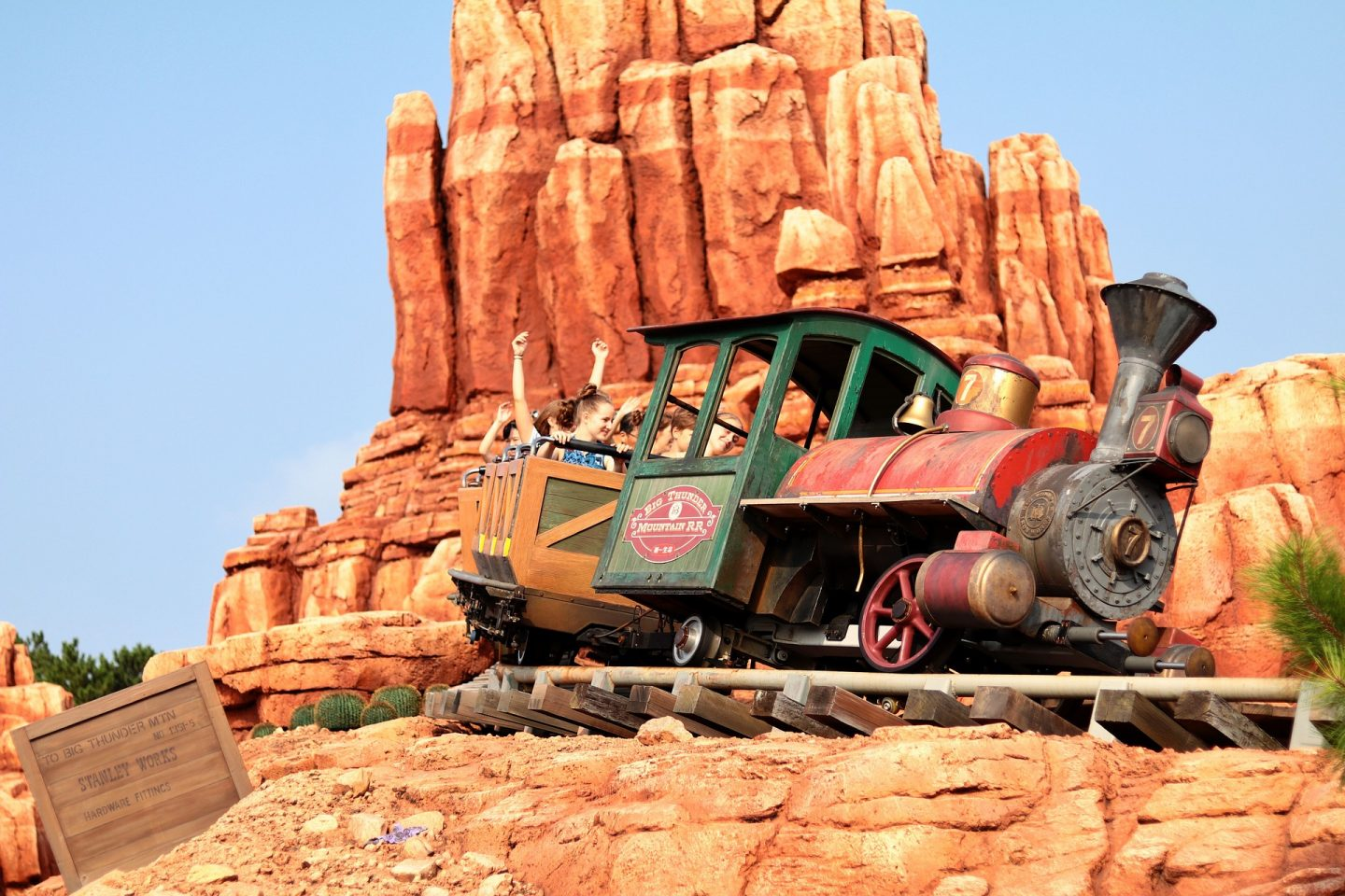 Big Thunder Mountain Train and Mountain Behind