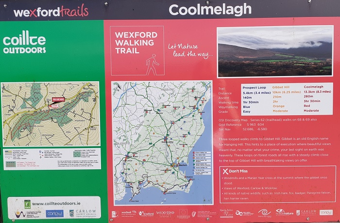 trail head at coolmelagh