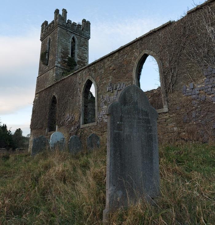 Old graveyard at Castlemacadam Church, Avoca, Wicklow