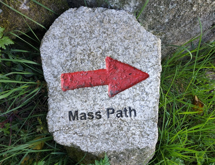 SIgn for Mass Path on Cullentra trail