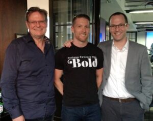 Caleb with Antony Slumbers and Dror Poleg