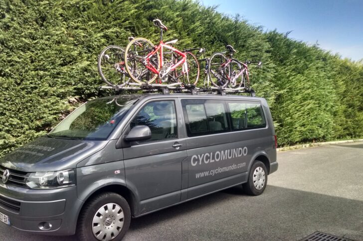One of our support vans loaded up with bikes in readiness for delivery to your accommodation