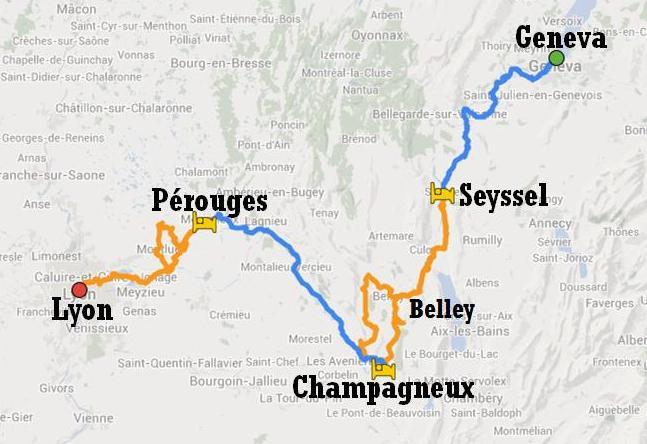ViaRhôna from Geneva to Lyon