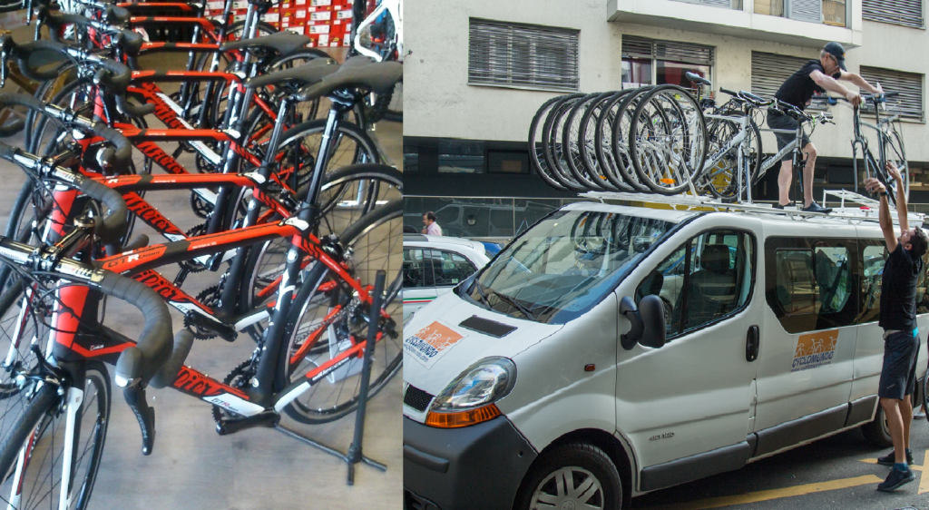 Our service includes delivery of rental bikes in Geneva and the Alps