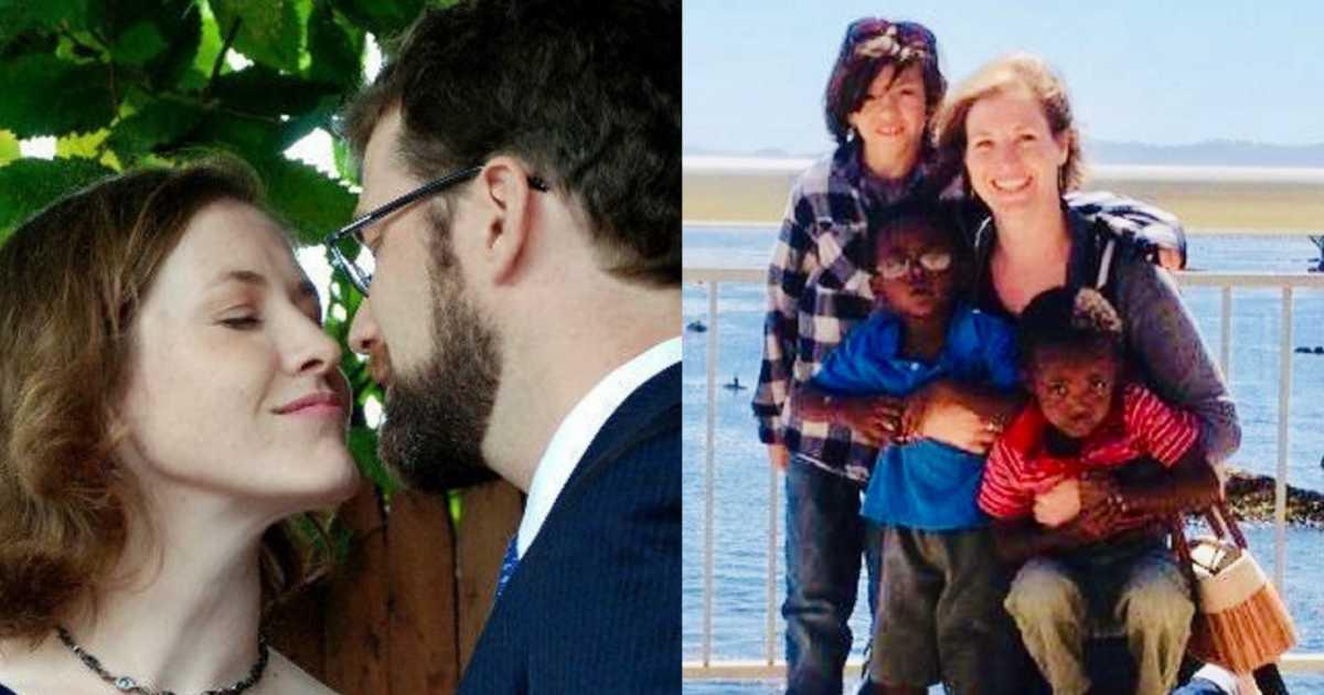 Article image – Merritt with Peter, Merritt with kids