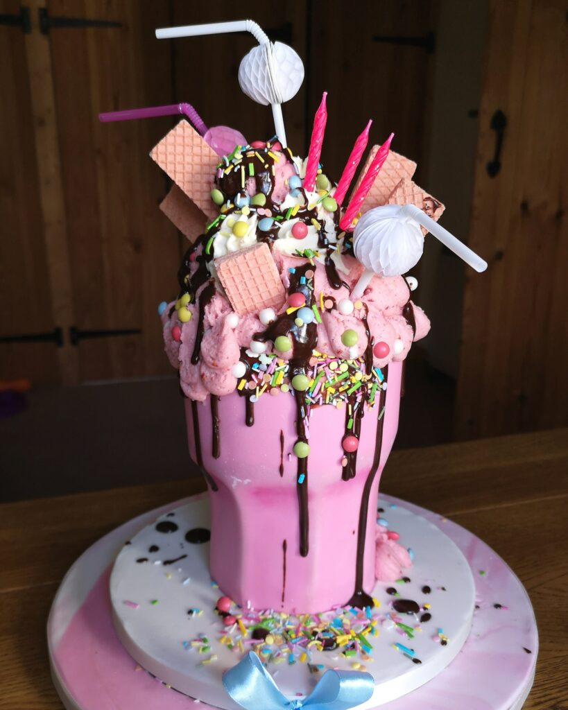 sculpted milkshake cake