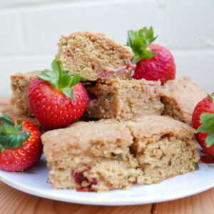 Mint and Strawberry Blondies Recipe
