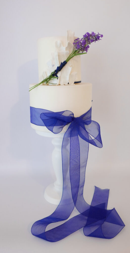 small and elopement wedding cake