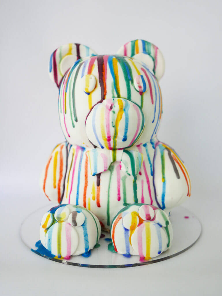 art teddy cake