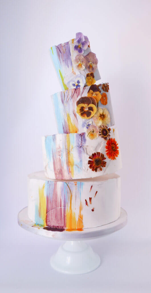 Toppling Wedding Cake