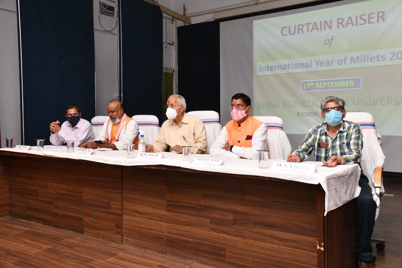 झारखंड में मिल्लेट्स फसलों को बढ़ावा देने के लिए शीघ्र विशेष रणनीति बनाएगा बीएयू