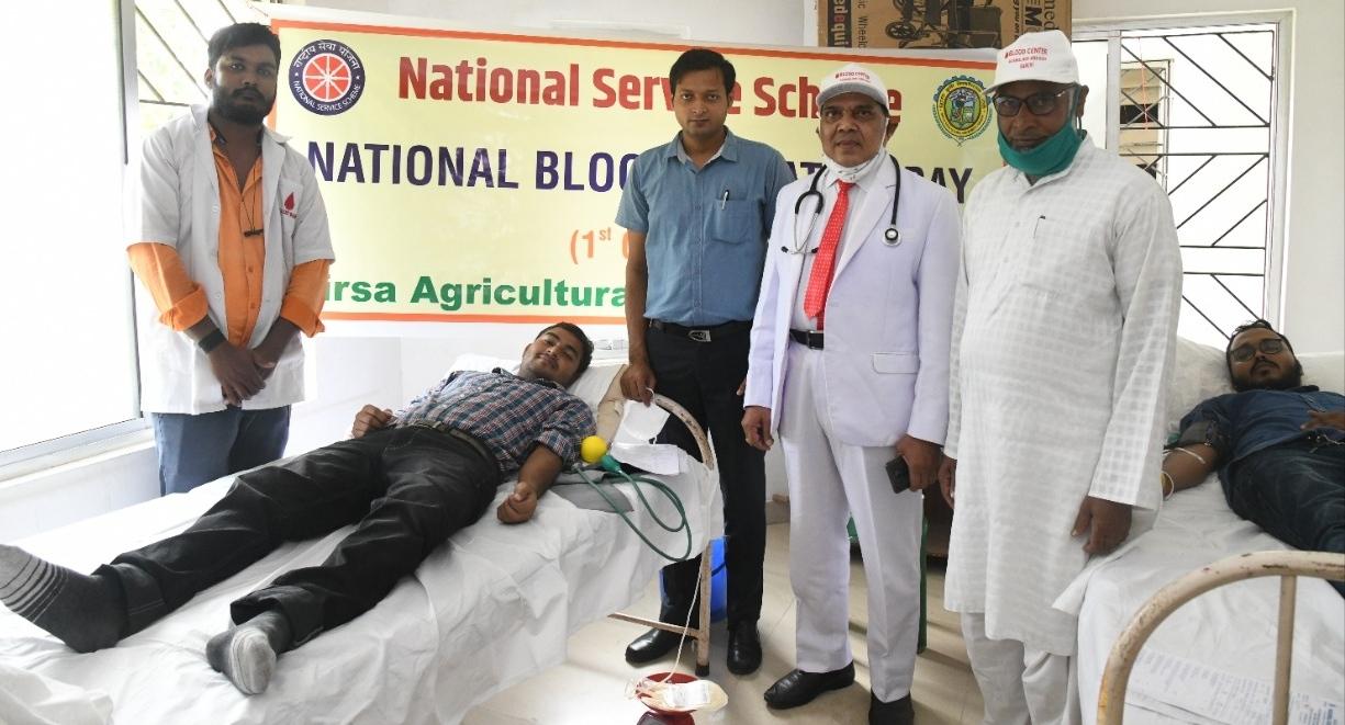 बीएयू में लगा शिविर, किसान सहित 25 लोगों ने किया रक्तदान