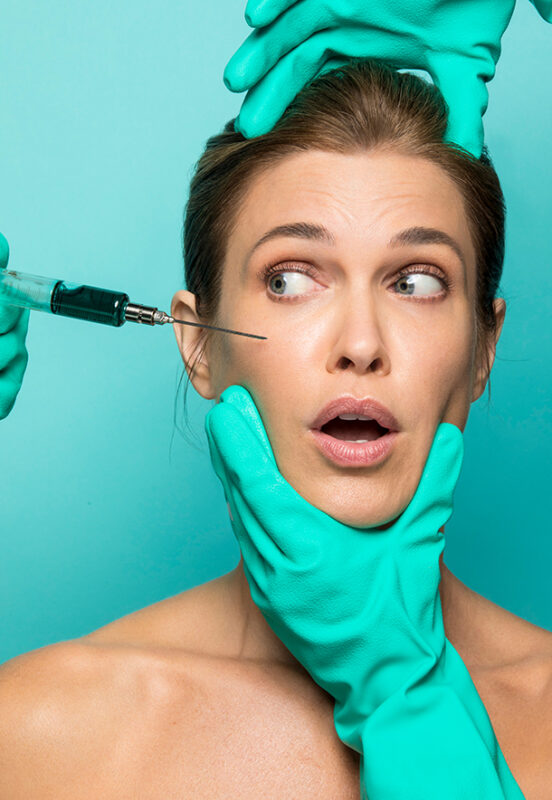 Woman receiving injectables for aging gracefully