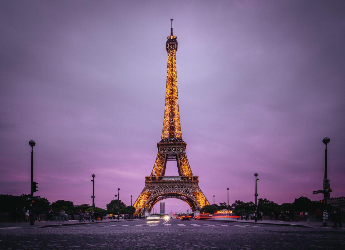 Eiffel Tower Paris by night