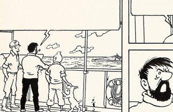 Here's original Tintin artwork