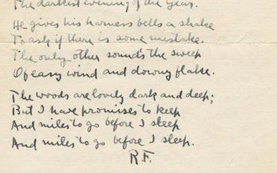 Robert Frost Snowy
