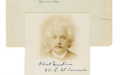 Albert Einstein's Passport Photo