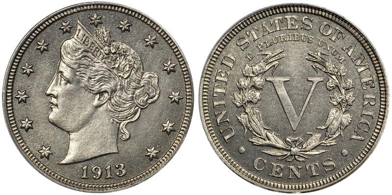 The Eliasberg specimen of the 1913 Liberty Head nickel