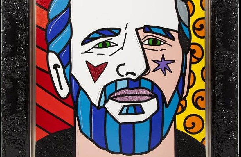 A pop-art portrait from Ringo Starr's memorabilia collection