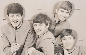 A vintage 'nodding head Beatles advertising display from 1964