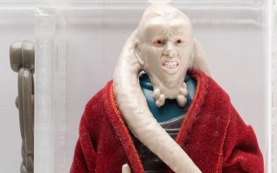 A 1983 prototype for Bib Fortuna, who appeared in return on the Jedi