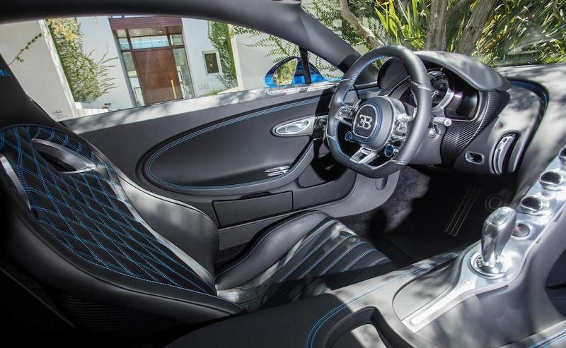 The interior of the Bugatti Chiron
