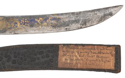 Davy Crocket's engraved Bowie knife
