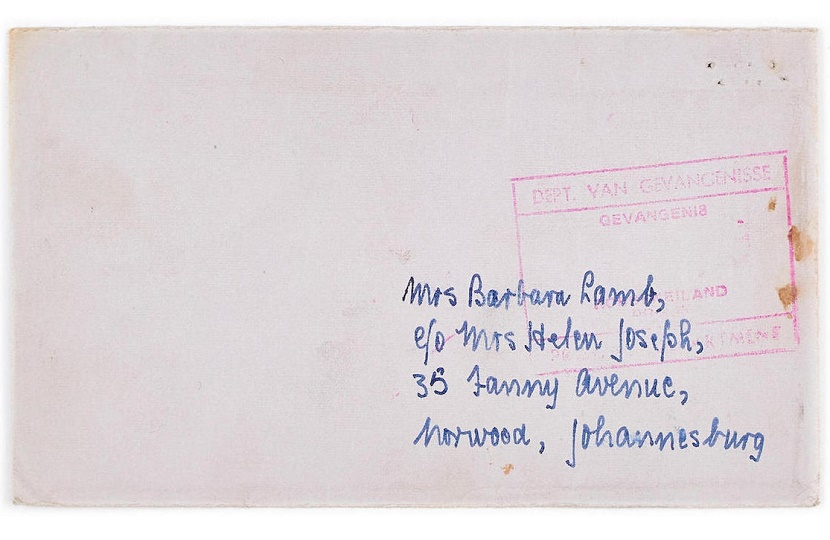 Mandela wrote the letter from his prison cell on Robben Island in 1974