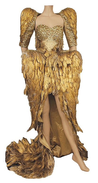 Katy Perry's stage-worn golden winged outfit, sold for $10,379
