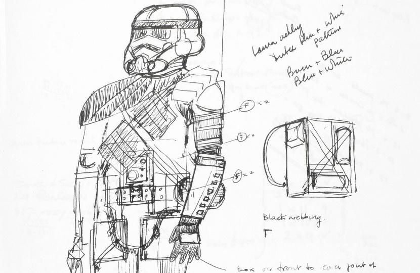 John Mollo's original Star Wars sketchbooks will be offered for sale in London on December 11