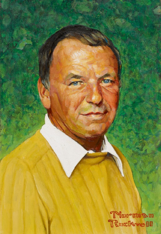 A Norman Rockwell portrait of Frank Sinatra, estimated at $80,000 - $120,000
