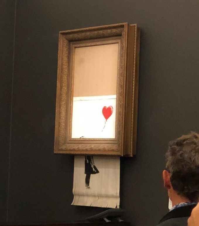 Banksy's self-shredding 'Girl With Baloon' artwork caused chaos at Sotheby's