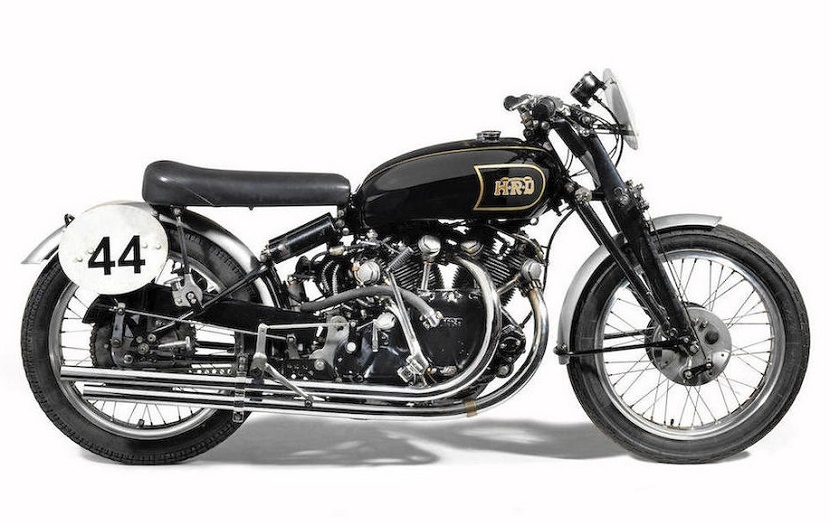 The motorcycle has been painstakingly restored to its original racing condition