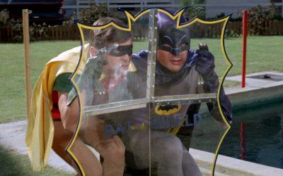 Batman always had the Bat-shield handy, although nobody knows where he kept it...