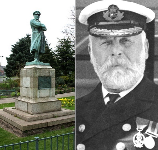 Captain Edward Smith is remembered by a statue in his home county of Staffordshire