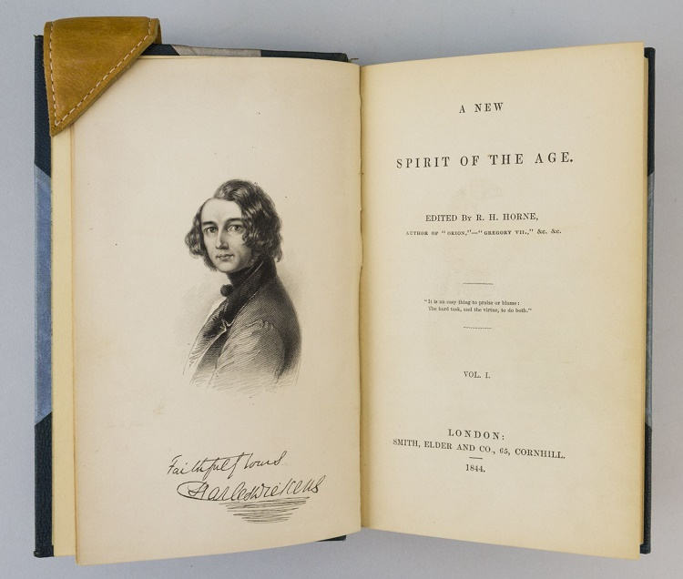 The only record of the painting was the engraving used in the 1844 book A New Spirit of the Age