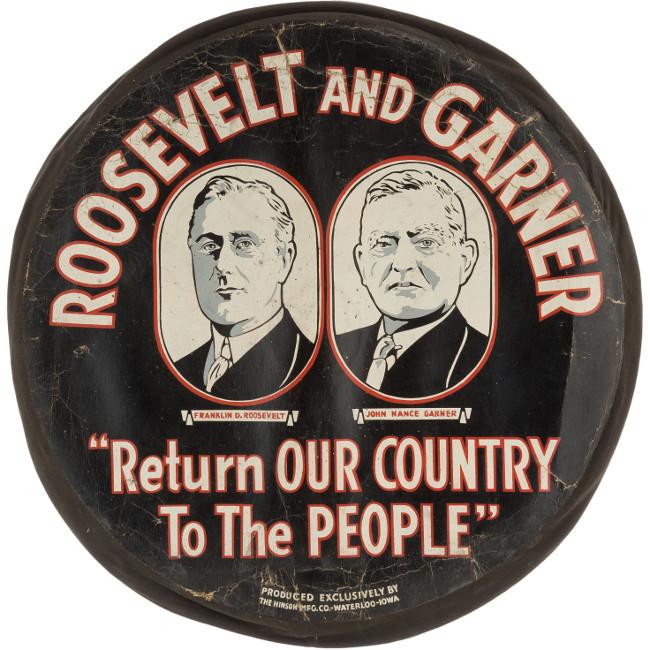 Roosevelt Garner Tire Cover