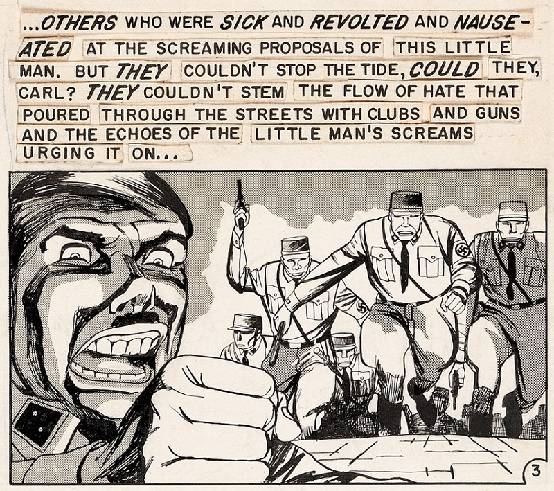 Bernie Krigstein's original eight-page story sold for $600,000