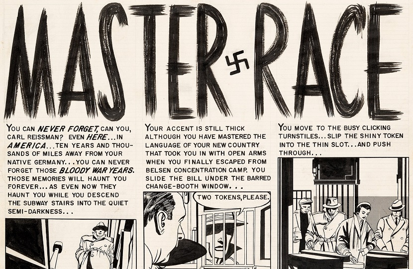 The 1955 story was the first comic book tale to tackle the horrors of The Holocaust