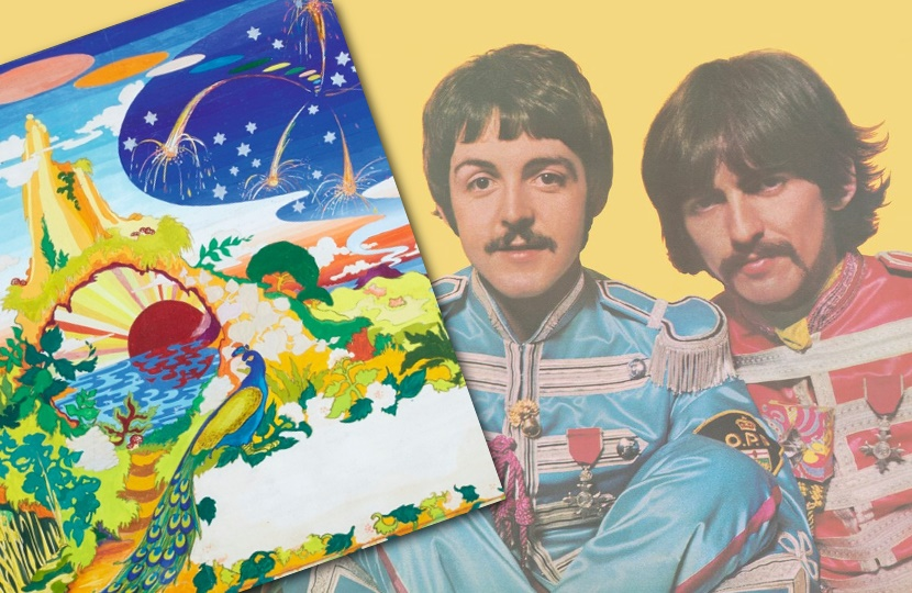 The Beatles commissioned Dutch art group The Fool to create a central painting for the album - although it was eventually rejected