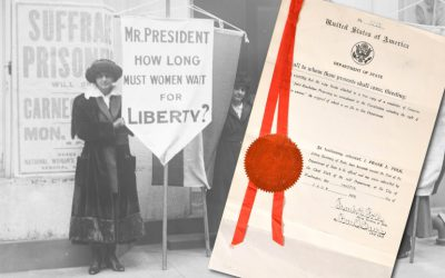 The sale will include a historic original copy of the 19th Ammendment, which guaranteed women the right to vote.