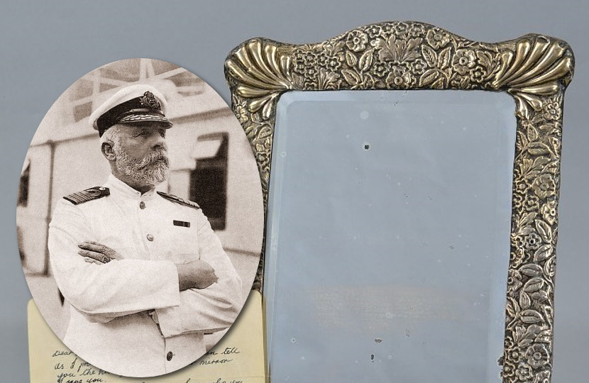Does the ghost of Captain Edward Smith appear in this mirror on the annivesary of his death?