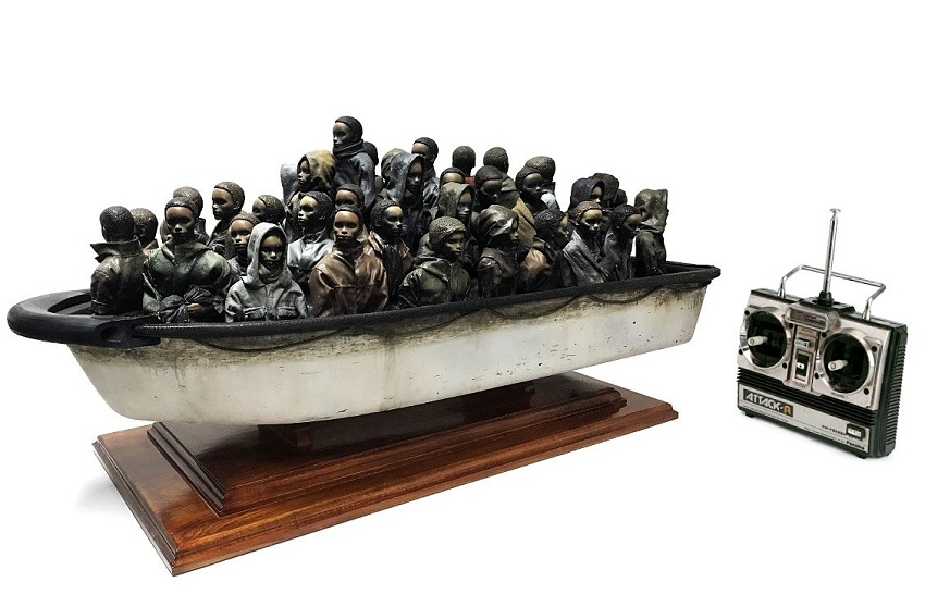'How heavy it weighs' (2015) by Banksy