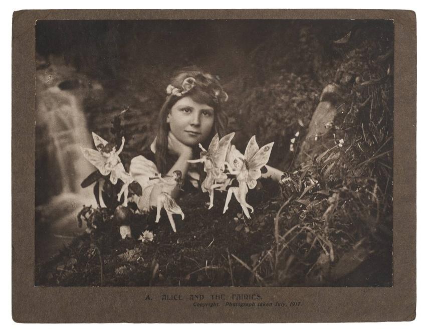 One of the original Cottingley Fairy photographs