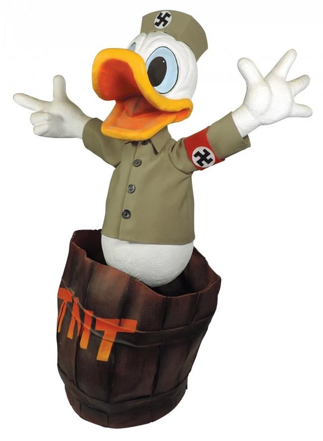 A vintage Walt Disney Nazi Donald Duck display