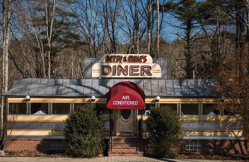 An original 1950s American roadside diner
