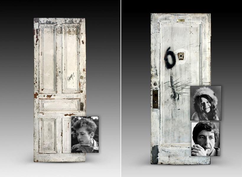 Original doors from the Chelsea Hotel