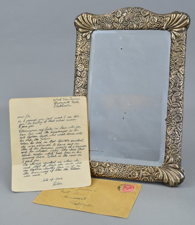 A 'haunted' mirror once owned by the Captain of the Titanic, Captain Edward John Smith